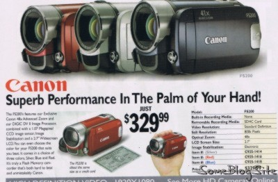 ad from electronics catalog