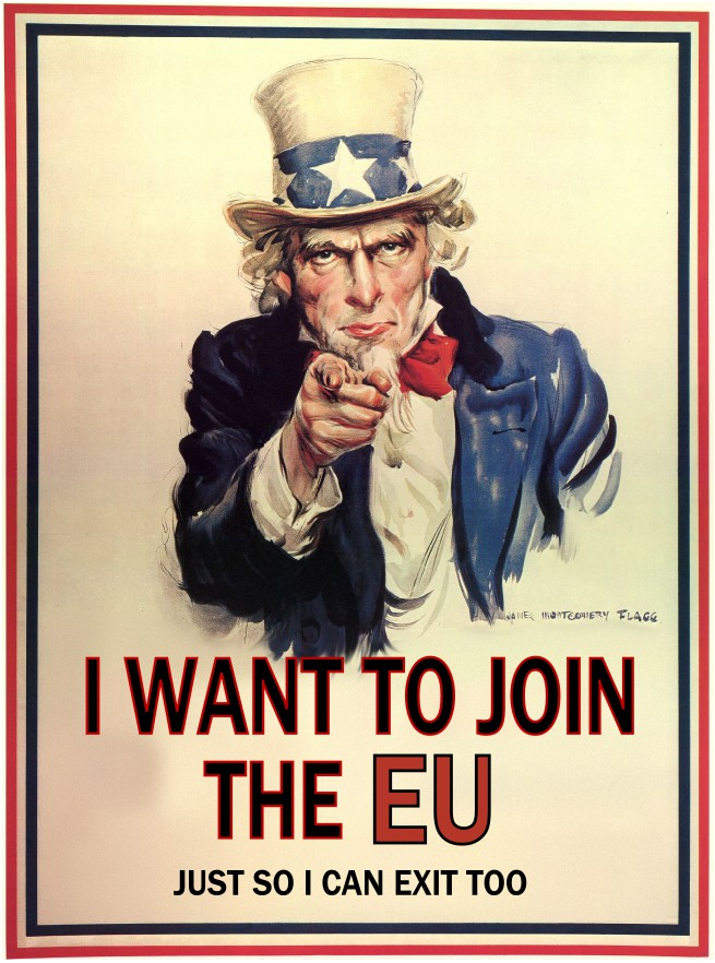 image of Uncle Sam talking about Brexit