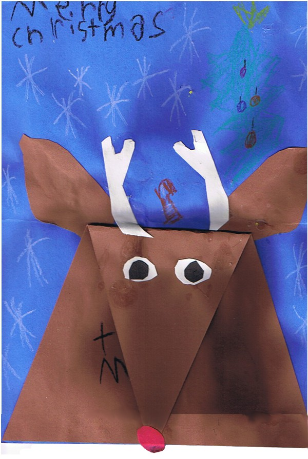 child's drawing of a reindeer