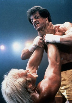 image of Rocky Balboa fighting Hulk Hogan