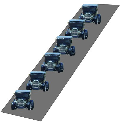image of cars driving in a line