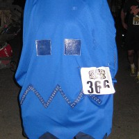 picture of a Pacman ghost costume for Halloween