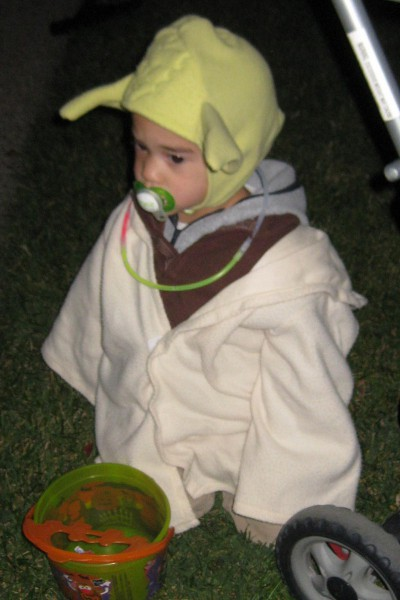 picture of a Yoda costume for Halloween
