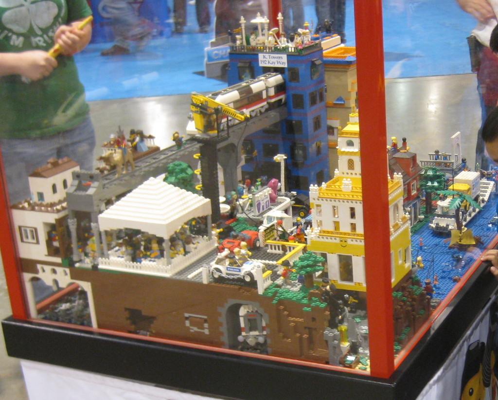 city display at the Lego Kids Fest