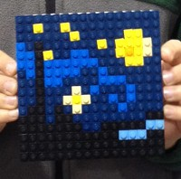Starry Night art at the Lego Kids Fest