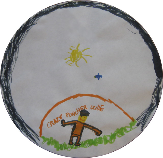 image of kid's drawing for homemade plate