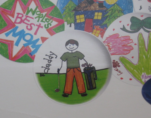 image of example kid's drawing for homemade plate on the box