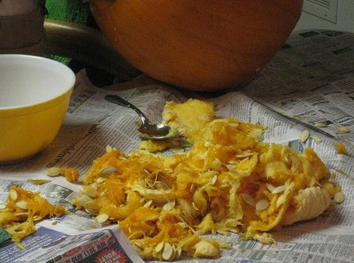 picture of pumpkin seeds and slime