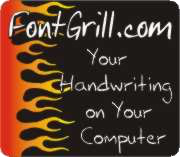 Your handwriting on your computer, by FontGrill