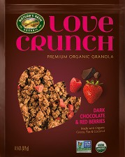 image of Love Crunch granola with dark chocolate and red berries