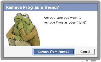 Toad's unfriending Frog on Facebook.