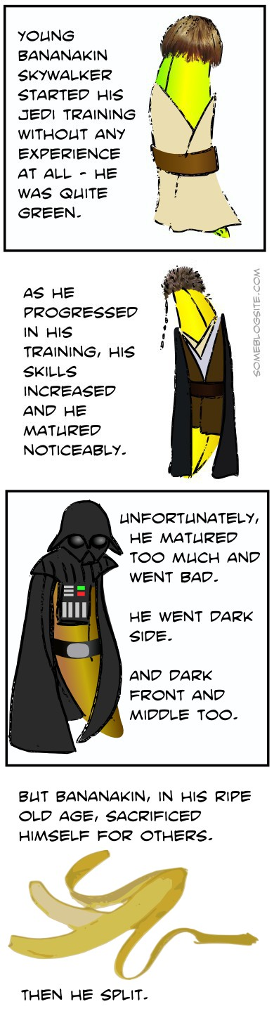 comic about Bananakin Skywalker, a Darth Vader reference using bananas