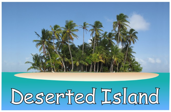 image of a deserted island