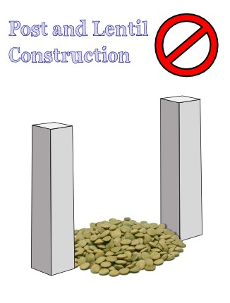 image of post and lentil construction