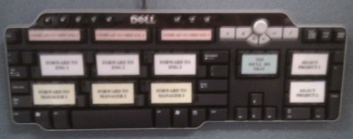 photo of the Manager's Keyboard