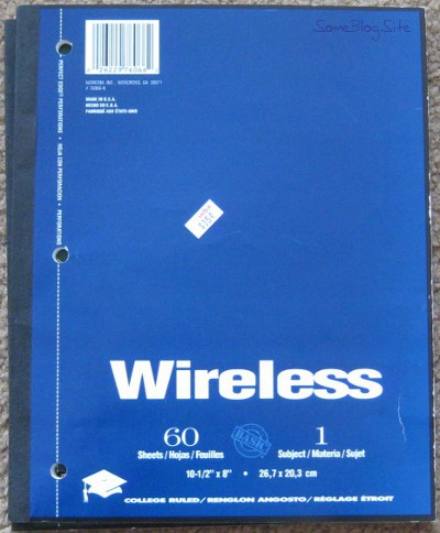 photo of a wireless notebook