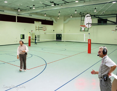 picture of Gym Tressel (Jim Tressel in a gym)