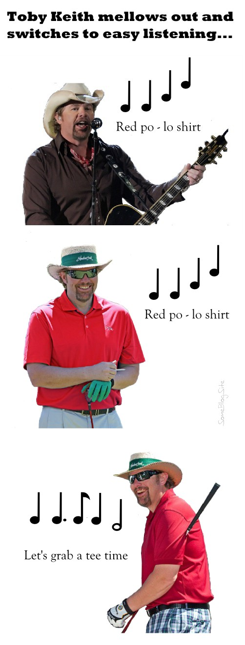 Toby Keith sings the song Red Polo Shirt instead of Red Solo Cup
