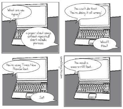 comic of a pun about sans-a-riff