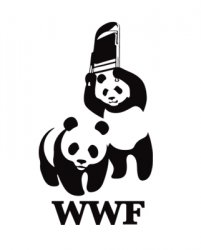 drawing showing panda bears and folding chairs for WWF