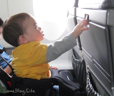 picture of toddler on airplane