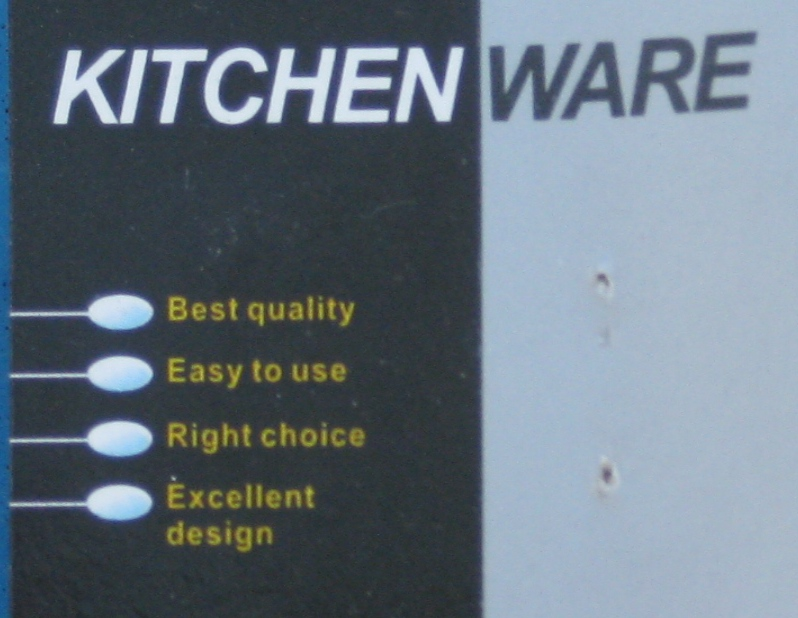 picture of the label on a ladle