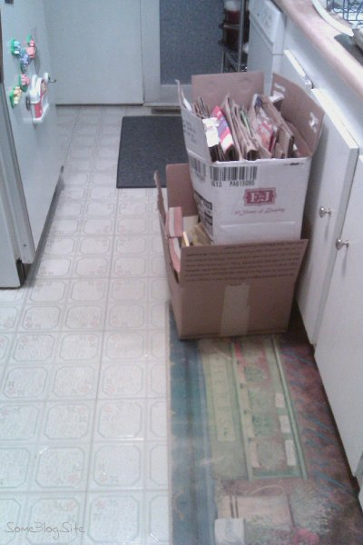 picture of neatly folded and stacked boxes in my kitchen