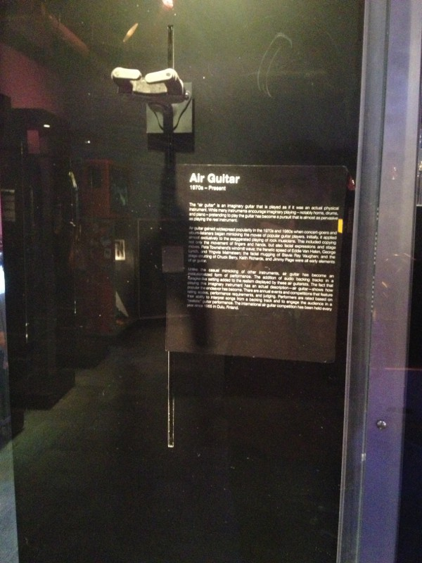 image of museum display of an air guitar