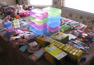 picture of toys to pack for Operation Christmas Child