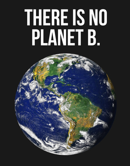 image of there is no planet B shirt