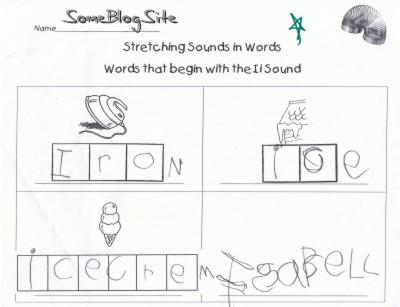 kindergarten schoolwork for the letter I