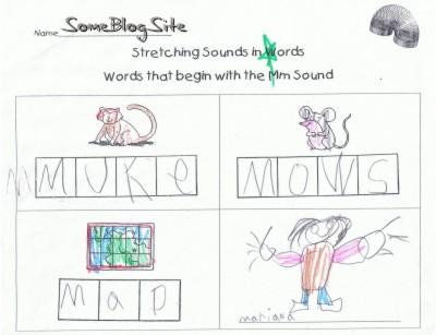 kindergarten schoolwork for the letter M