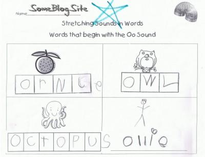 kindergarten schoolwork for the letter O
