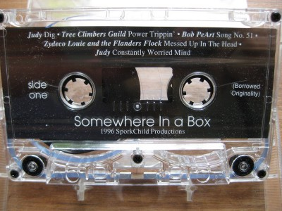 picture of the Somewhere in a Box cassette tape