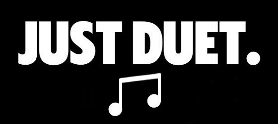 image of just duet slogan and logo instead of just do it