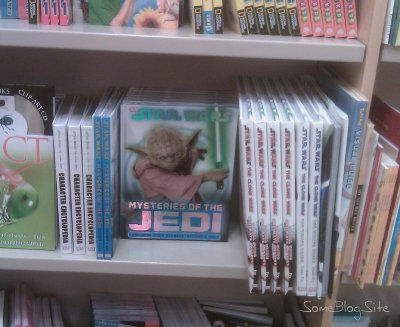 picture of Star Wars books on the non-fiction bookshelf