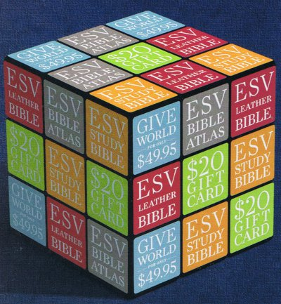 puzzle cube advertisement on cover of an April 2010 issue of World magazine