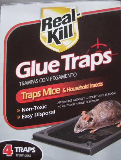 picture of a box of Real-Kill glue traps