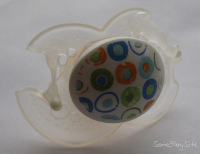 picture of a pacifier that melted in the dishwasher