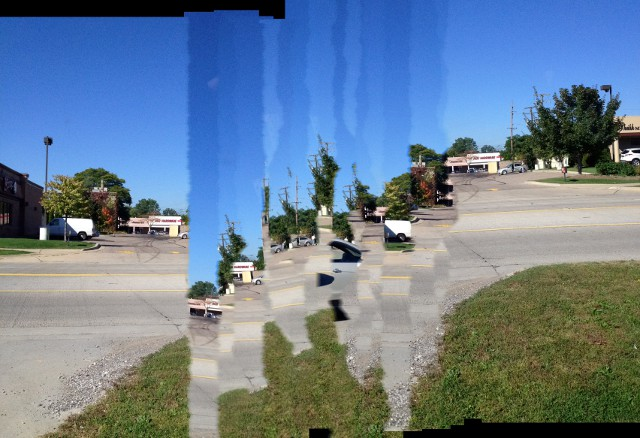 image of a panoramic photo taken by a child