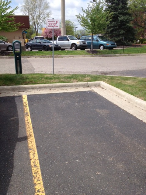 image of an empty parking spot