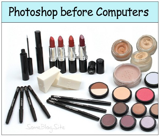 image of a makeup kit, AKA photoshop before computers