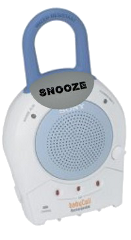 illustration of a baby monitor with a snooze button