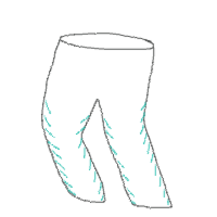 illustration of one-way pant legs for babies