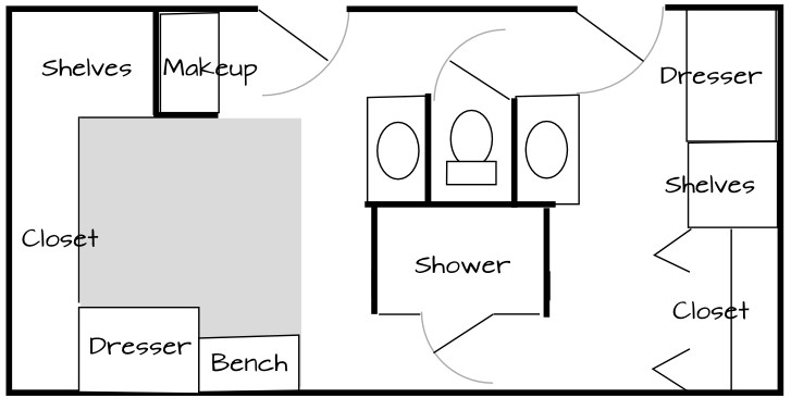 Bathroom Laundry Room Combo Floor Plans peach wall bathroom laundry room combination with black cabinet on the cream modern ceramics floor with Bath Plan 2 Small Bathroom Laundry Floor Plans 5 On Small Bathroom Laundry Floor Plans