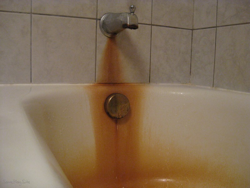 Is the tub supposed to be orange some blog site How to clean bathtub