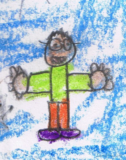 picture of child's self-portrait