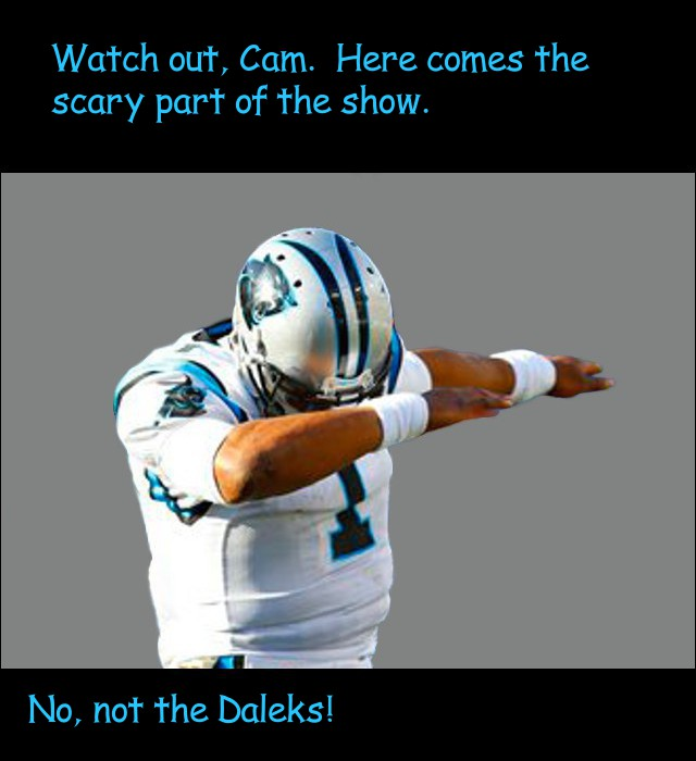 image of Cam Newton hiding his eyes at the scary part of a movie