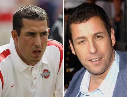 comparison of Luke Fickell to Adam Sandler - long-lost twins separated at birth