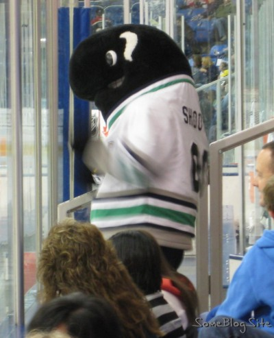 minor-league hockey mascot